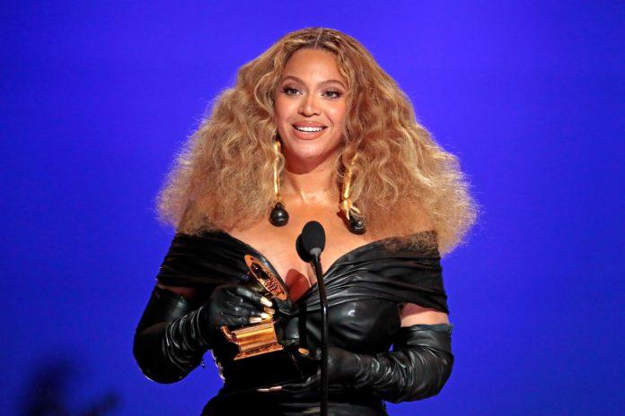 Beyonce making history at the 63rd Grammy Awards.