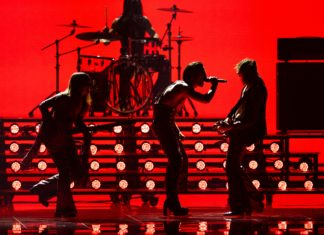 Måneskin of Italy performs during the Grand Final of the 65th Eurovision Song Contest on May 22.