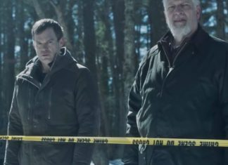 """Michael C. Hall and Clancy Brown in """"Dexter: New Blood"""""""